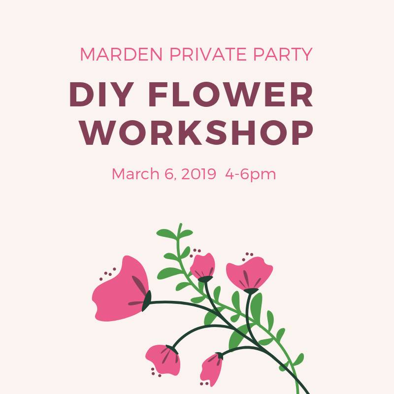 Private Party: Marden Bridal Flower Workshop