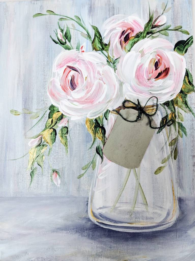 Painted Personalized Flower Vase: Saturday, May 4th
