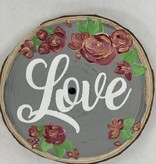 Wood Slice Flower & Words Painting: April 25th/11:30am-1:00pm