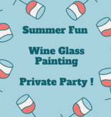 Private Party: Wine Glass Painting, June 28th 12pm