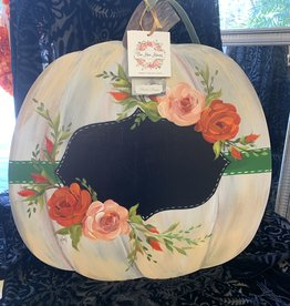 Handpainted Hanging Pumpkin Sign