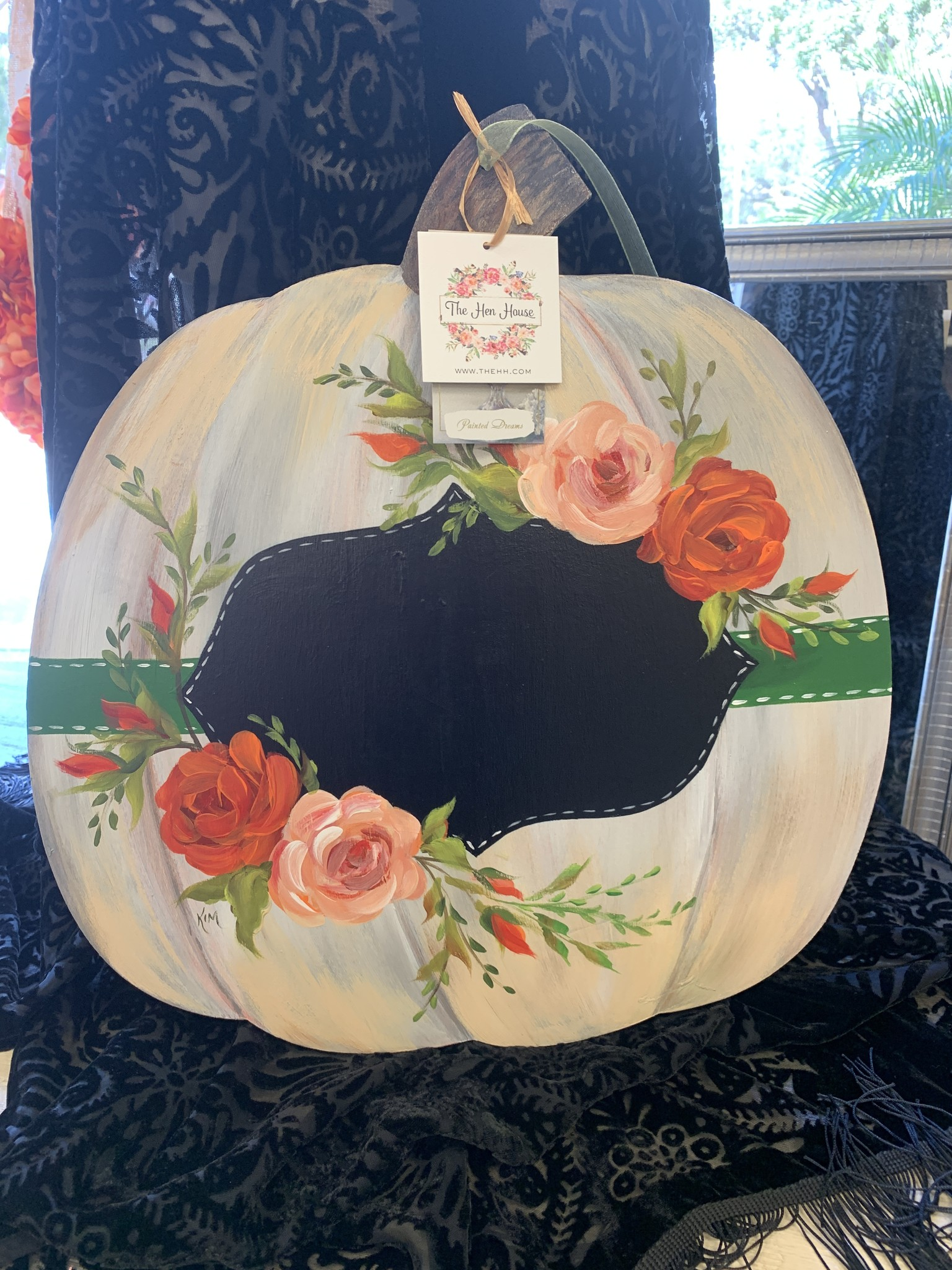 Handpainted Hanging Pumpkin Sign