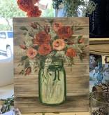 Handpainted Mason jar Painting