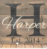 Wood Monogrammed Sign Class: Saturday, August 26th 1pm-4pm.