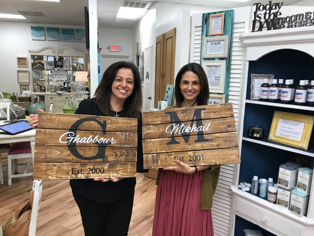 Wood Monogrammed Sign Class: Saturday, September 23rd -1pm-4pm