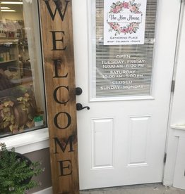 Wood Sign: Welcome: Saturday, October 21st 1pm-4pm