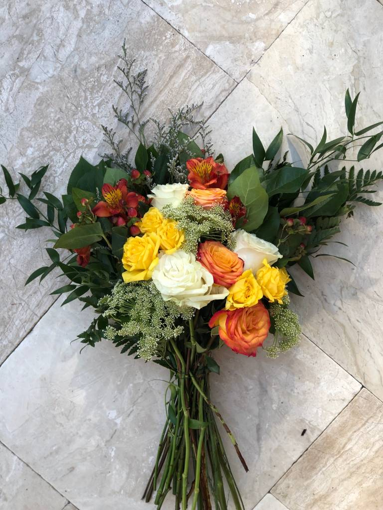 Floral Bouquet: HAPPIER (Wrapped) - approx 14 stems
