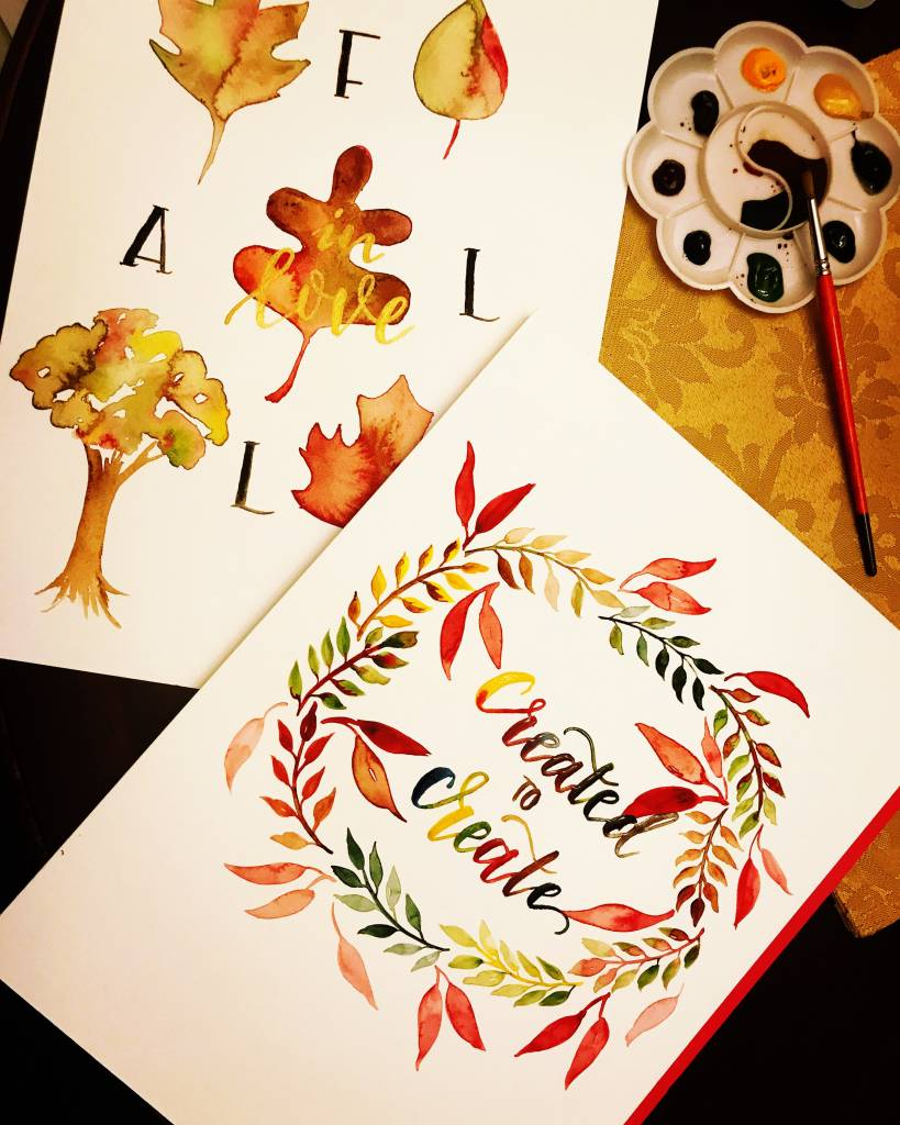 Brush Lettering and Watercolor (Group Party)