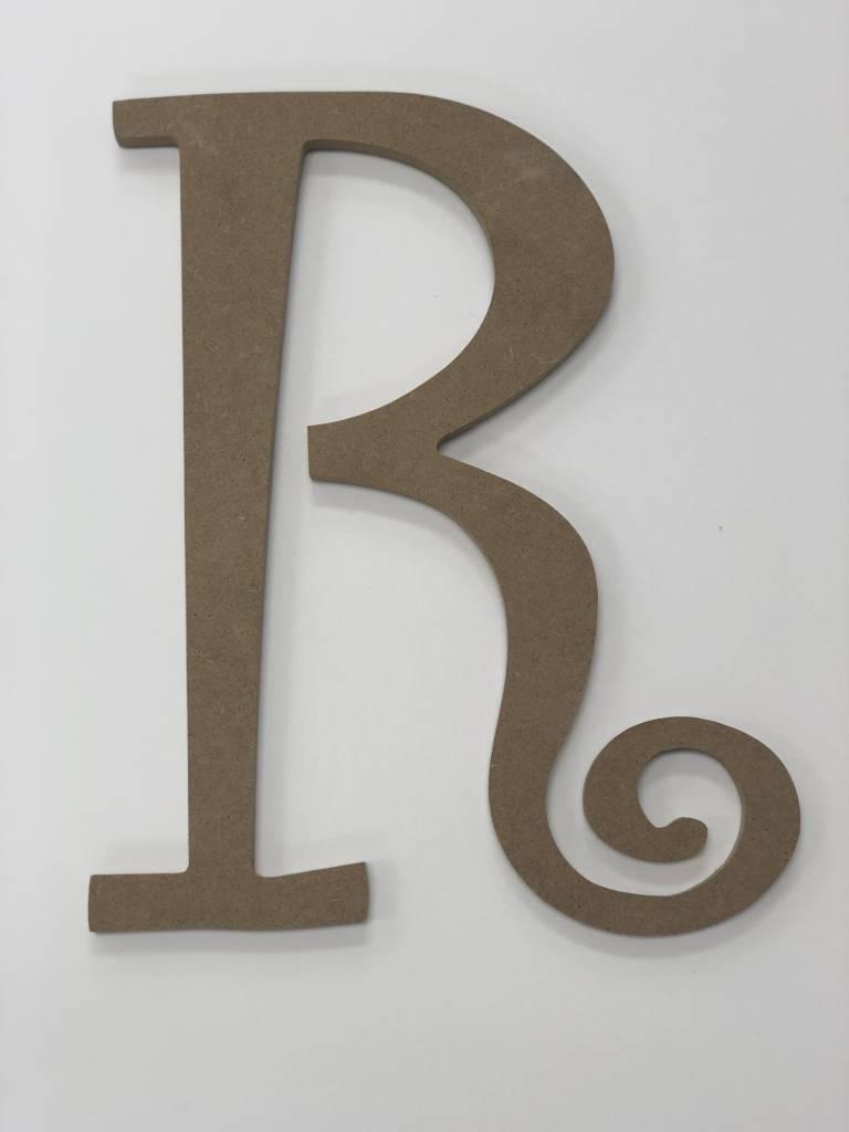 Wood Monogram Initial