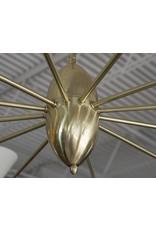 Stilnovo Brass 12 Arm Chandelier