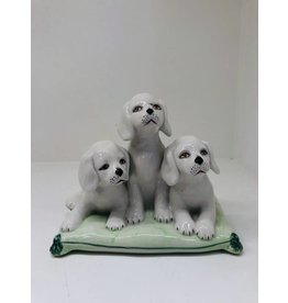 Ceramic Puppy Figurine