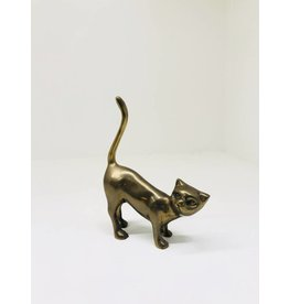 Vintage Brass Cat