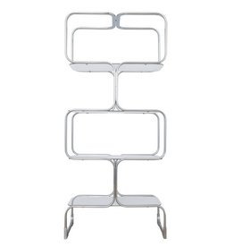 Italian 1907s Chrome and Glass Etagere by Tricom