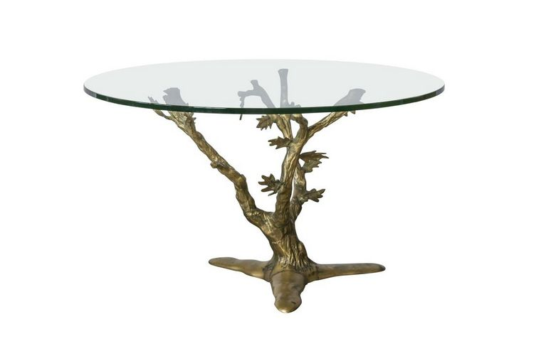 Willy Daro Handcrafted Brass Tree Table