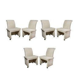 Set of 6 Milo Baughman for Thayer Coggin Parsons Style Dining Chairs