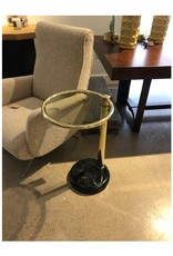 Brass & Glass Pace Side Table