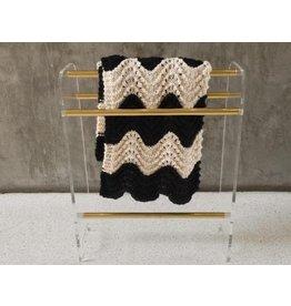 Vintage Lucite & Brass Blanket Rack