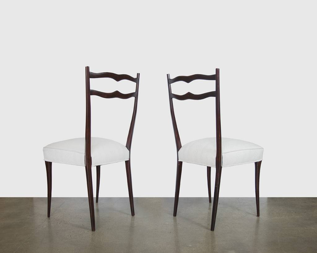 SET of 6: Italian Rosewood Dining Chairs