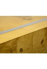Milo Baughman Burl Wood & Chrome Square Coffee Table