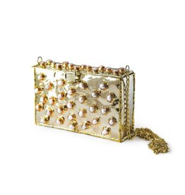Brass and Pearl Purse