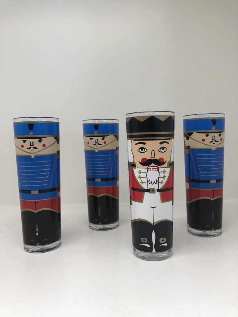 Vintage Set of 4 Stotter Nutcracker Cups