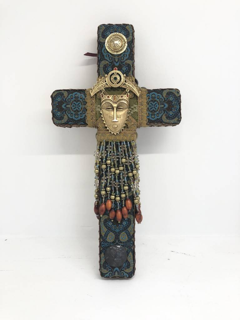 Small Cross - Gold Mask