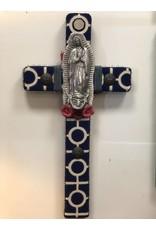 Medium Cross - Azul/Virgen