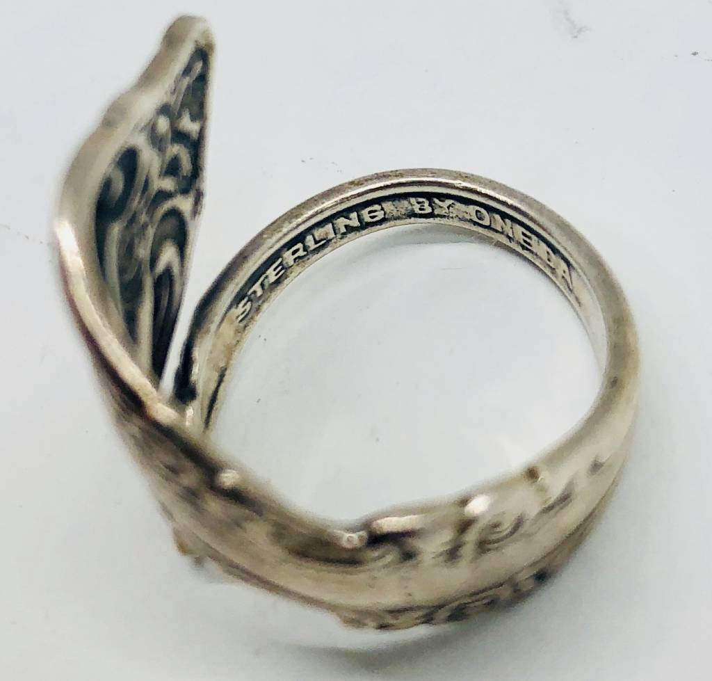 Rose Collection Silver Spoon Ring