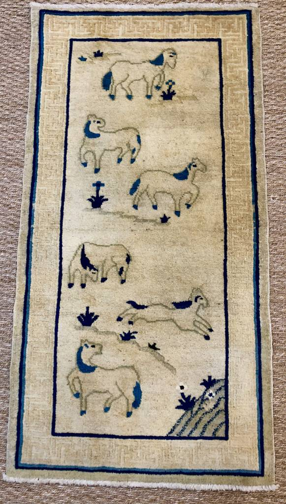 Antique Pictorial Chinese Rug 94