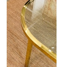 Milo Baughman Brass Racetrack Shaped Dining Table