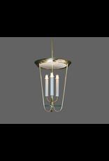 1950s Fontana Arte Style Lantern Pendant in Brass & Glass