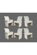 SET of 6 Milo Baughman for Thayer Coggin Parsons Style Upholstered Dining Chairs