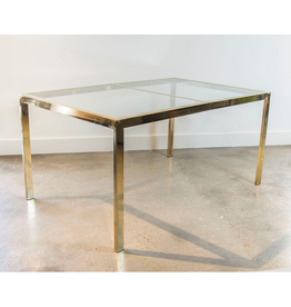 Milo Baughman for Thayer Coggin Brass Dining Table