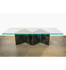 Paul Evans Signed Studio Zig Zag Coffee Table