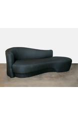 Vladimir Kagan Black Serpentine Sofa