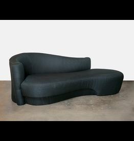 Vladimir Kagan Black Serpentine Sofa