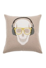 Rani Arabella Skull Headphones Cashmere Pillow