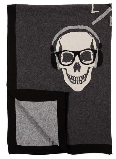 Rani Arabella Skull Cashmere Knit Throw