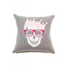 Rani Arabella Skull Crown Cashmere Pillow