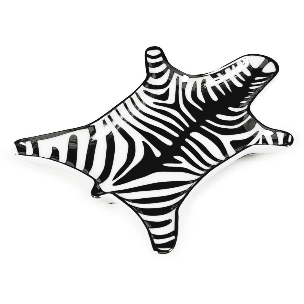 Jonathan Adler Zebra Stacking Dish - Black/White
