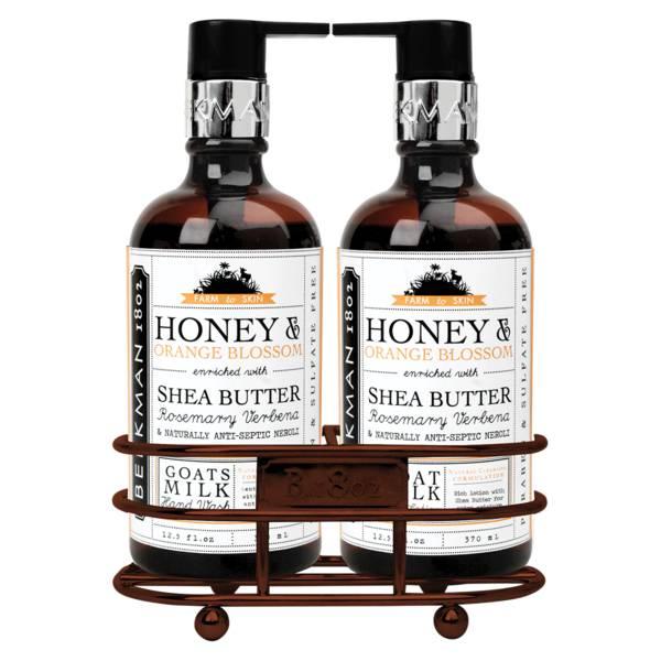 Beekman 1802 Honey & Orange Blossom Caddy Set
