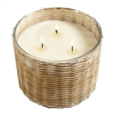Hillhouse Peony Blush 3 Wick Handwoven Candle 21oz.