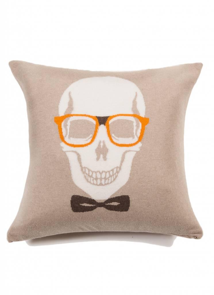 Rani Arabella Skull Bow Pillow