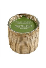 Hillhouse White Pine 2 Wick Handwoven Candle 12oz.