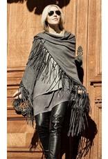 Rani Arabella Ranch Leather Fringes Shawl