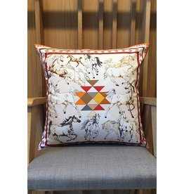 Rani Arabella Aztec Cotton Orange Pillow