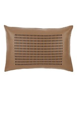 Rani Arabella Laser Cut Leather Pillow