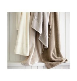 Peacock Alley Chelsea Wash Towel - Ivory 12x12