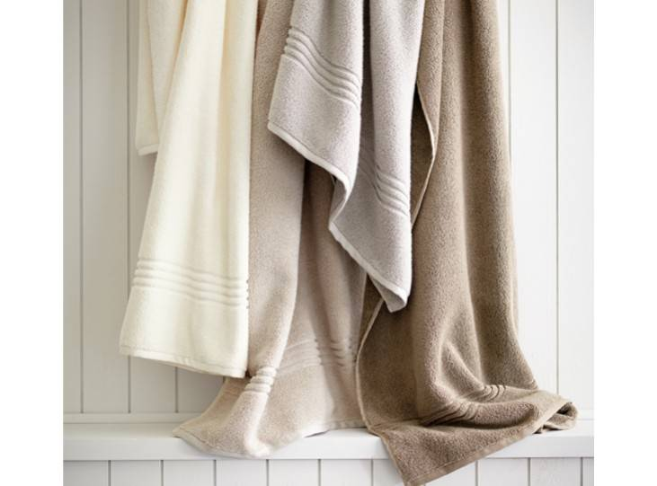 Peacock Alley Chelsea Bath Towel - Linen 12x12