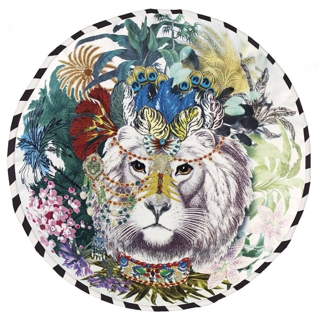 Christian Lacroix Jungle King Opiat Pillow